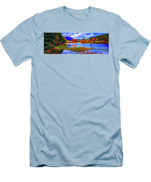 Fall On Long Pond Acadia National Park Maine  Men's T-Shirt (Athletic Fit)