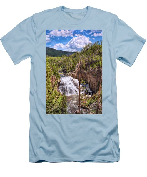 Men's T-Shirt (Athletic Fit) featuring the photograph Falls Of The Gibbon by John M Bailey