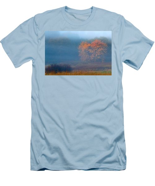 Men's T-Shirt (Slim Fit) featuring the photograph Falltime In The Meadow by Scott Holmes