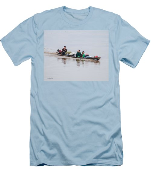Family Boat On The Amazon Men's T-Shirt (Athletic Fit)