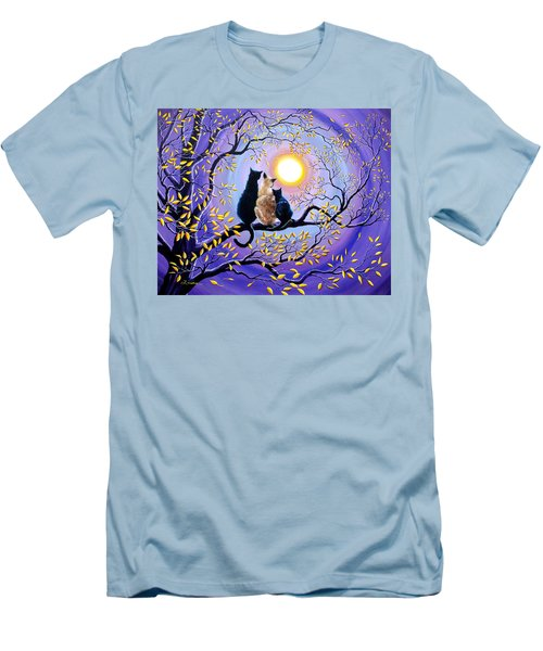 Family Moon Gazing Night Men's T-Shirt (Athletic Fit)