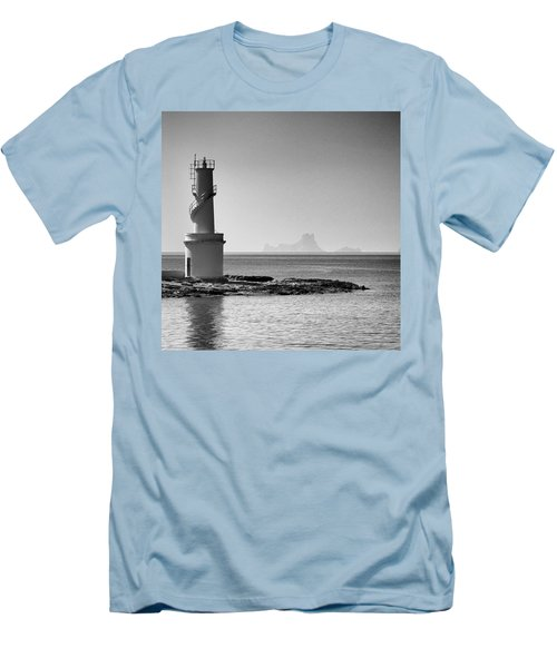 Far De La Savina Lighthouse, Formentera Men's T-Shirt (Slim Fit) by John Edwards