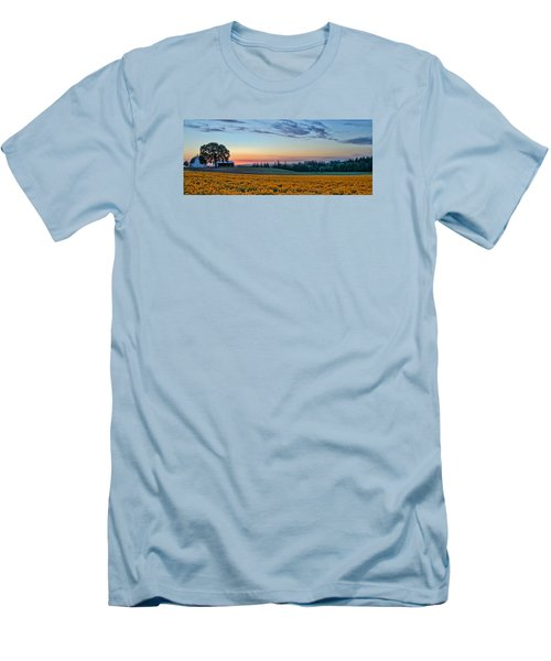 Farmhouse Among The Wallflowers Men's T-Shirt (Athletic Fit)