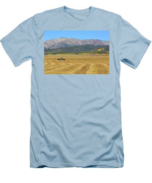 Farming In The Highlands Men's T-Shirt (Slim Fit) by David Chandler