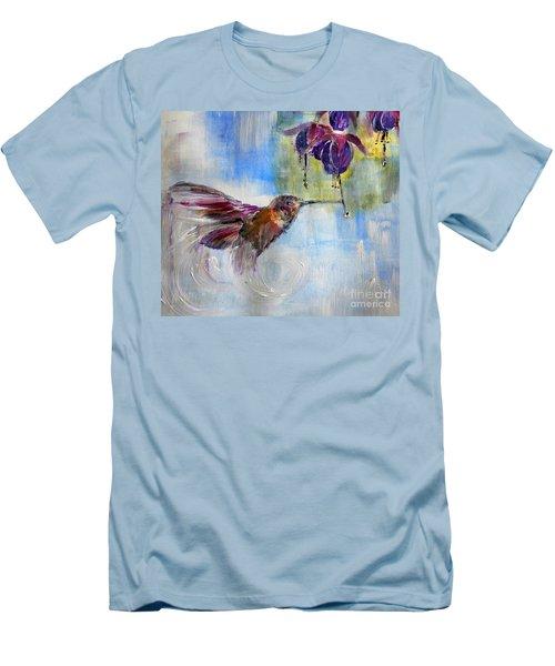 Fast Fuchsia Checkout Men's T-Shirt (Slim Fit) by Lisa Kaiser