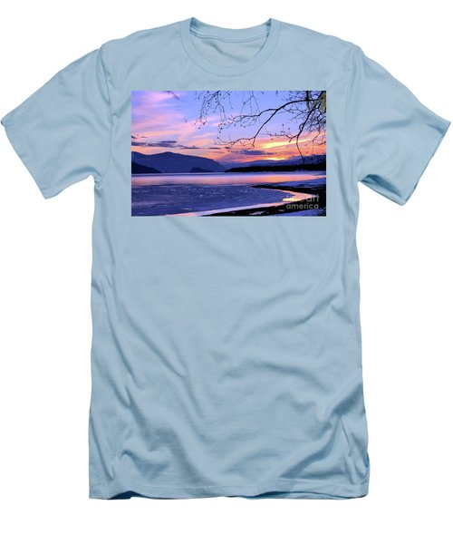 February Sunset 2 Men's T-Shirt (Slim Fit) by Victor K