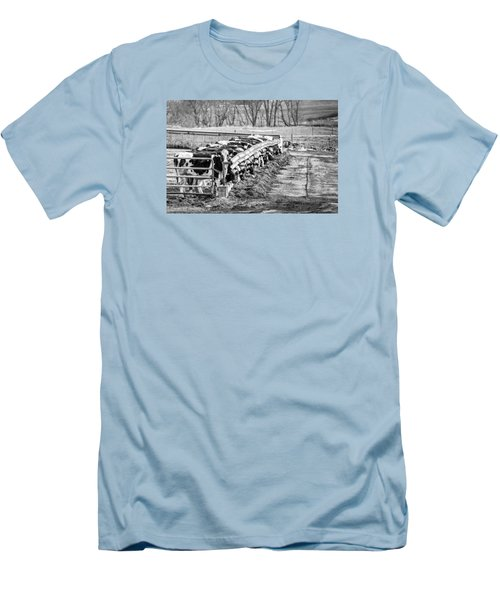 Men's T-Shirt (Slim Fit) featuring the photograph Feedlot by Dan Traun
