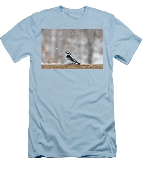 Female Downy Woodpecker Men's T-Shirt (Athletic Fit)