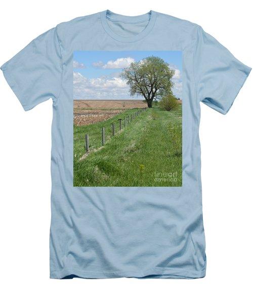 Fence Line Men's T-Shirt (Slim Fit) by Renie Rutten