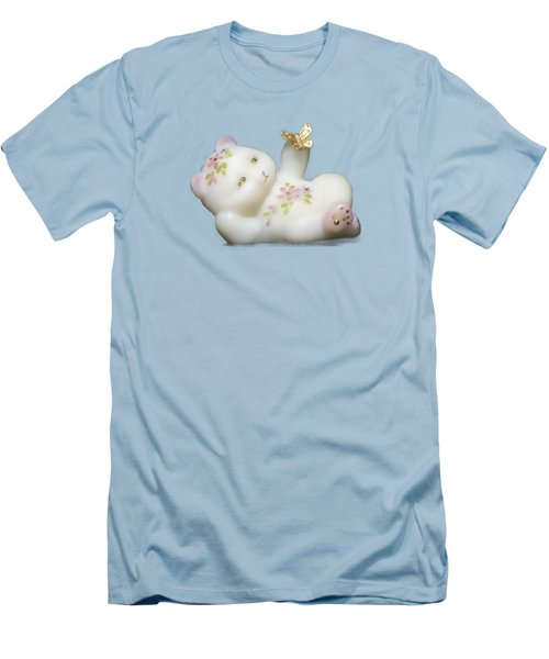 Men's T-Shirt (Slim Fit) featuring the pyrography Fenton Bear Cutout by Linda Phelps