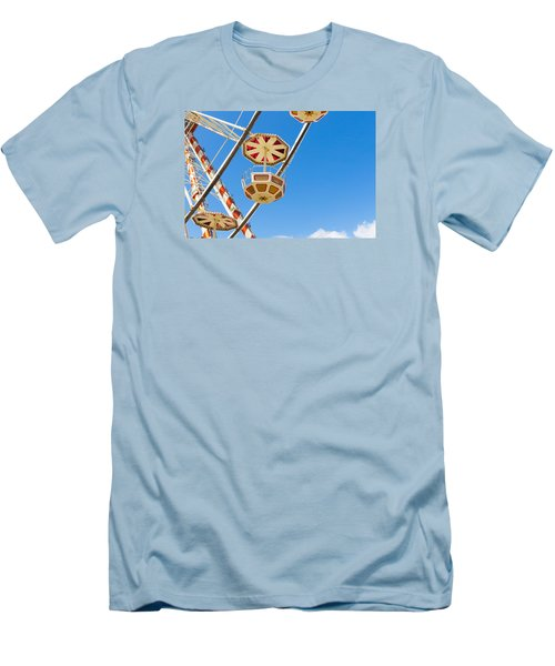 Men's T-Shirt (Slim Fit) featuring the photograph Ferris Wheel Cars In Toulouse by Semmick Photo