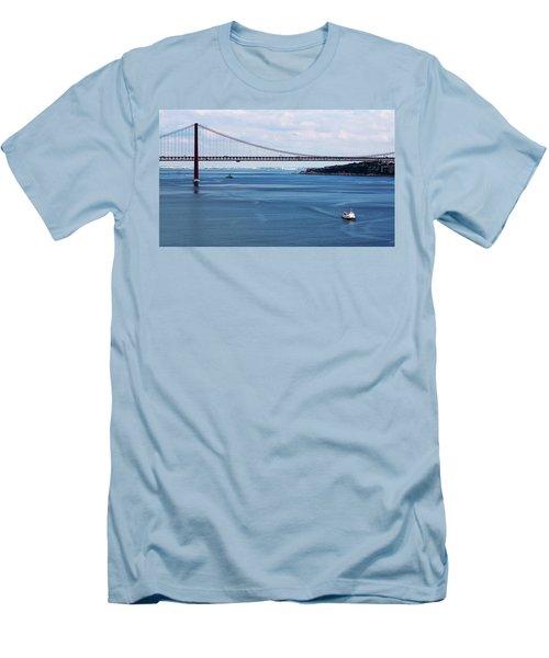 Ferry Across The Tagus Men's T-Shirt (Slim Fit) by Lorraine Devon Wilke