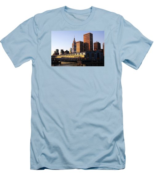 Ferry Building And San Francisco Men's T-Shirt (Athletic Fit)