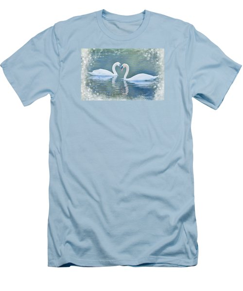 Festive Swan Love Men's T-Shirt (Athletic Fit)