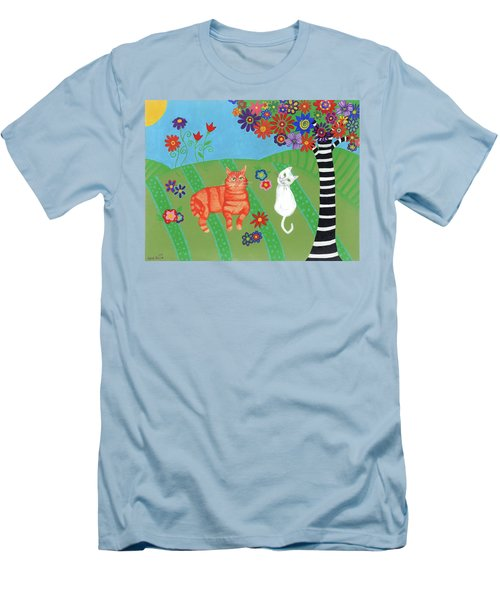 Kitty Cat Meadows Men's T-Shirt (Athletic Fit)