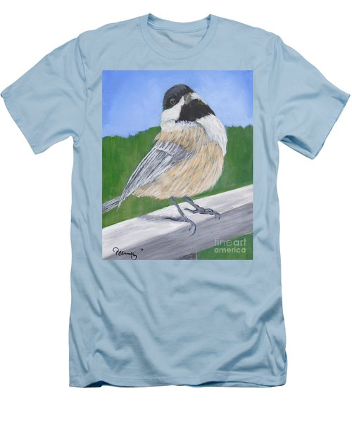Finch Men's T-Shirt (Slim Fit) by Patricia Cleasby