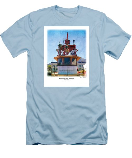 Fire Boat Men's T-Shirt (Athletic Fit)