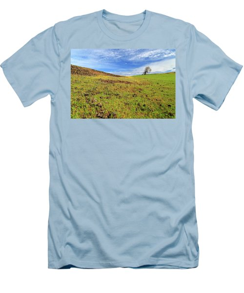 First Flowers On North Table Mountain Men's T-Shirt (Slim Fit) by James Eddy