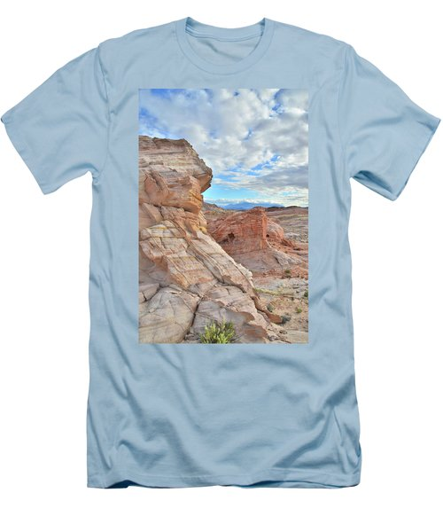 First Light On Valley Of Fire Men's T-Shirt (Slim Fit) by Ray Mathis