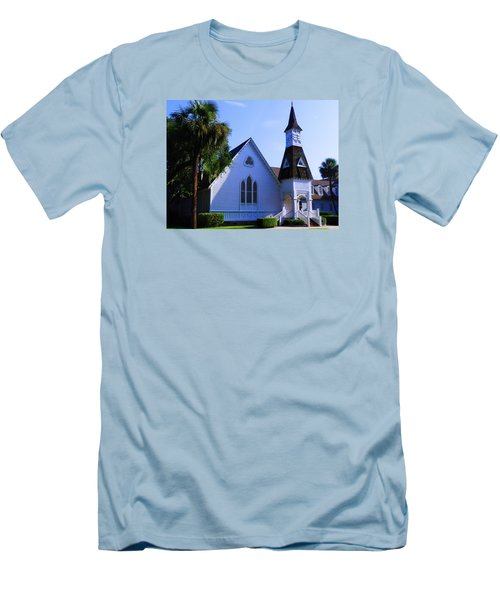 Men's T-Shirt (Slim Fit) featuring the photograph First Presbyterian Church by Laura Ragland