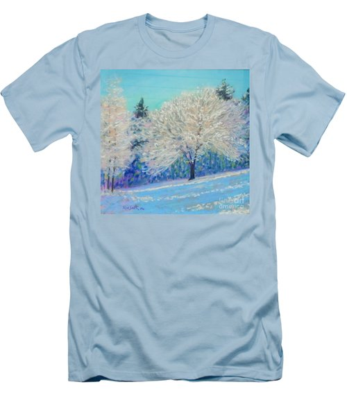 First Snowfall  Men's T-Shirt (Slim Fit) by Rae  Smith PAC