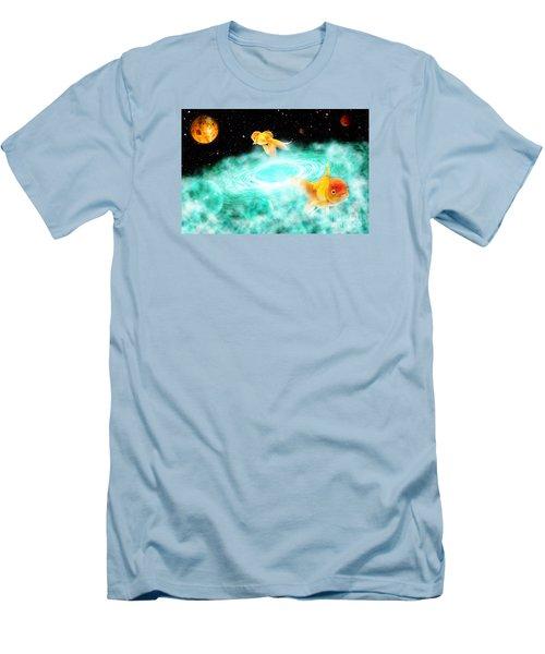 Men's T-Shirt (Slim Fit) featuring the digital art Zen Fish Dream by Olga Hamilton