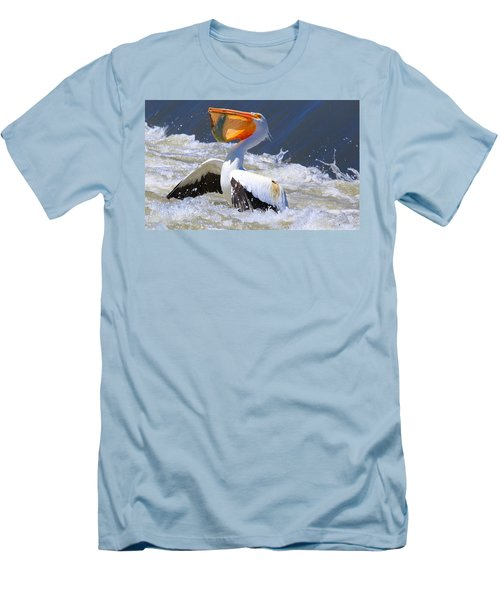 Fish For Dinner Men's T-Shirt (Slim Fit)