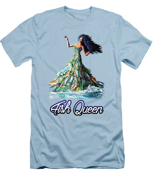 Fish Queen Men's T-Shirt (Slim Fit) by Anthony Mwangi