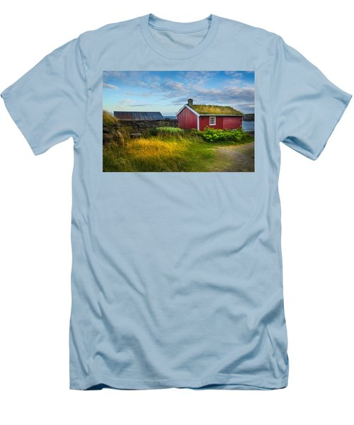 Fisherman House Men's T-Shirt (Slim Fit) by Maciej Markiewicz