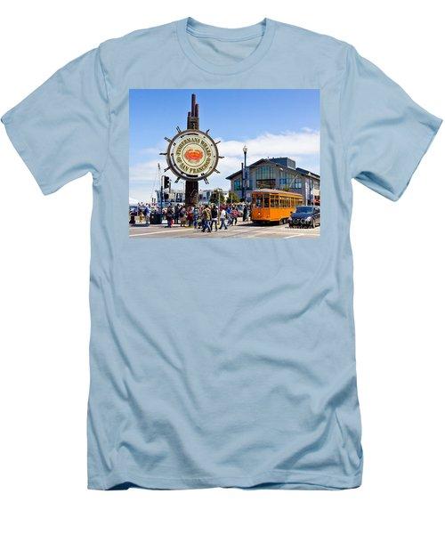 Fishermans Wharf - San Francisco Men's T-Shirt (Athletic Fit)