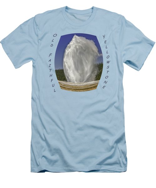 Fisheye Look At Old Faithful Men's T-Shirt (Slim Fit) by John M Bailey