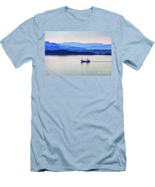 Fishing Boat At Dawn Men's T-Shirt (Athletic Fit)