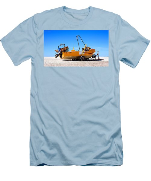 Men's T-Shirt (Slim Fit) featuring the photograph Fishing Boat by Silvia Bruno