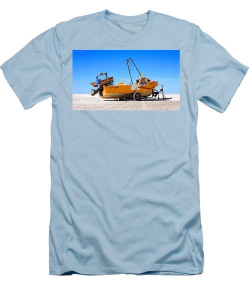 Fishing Boat Men's T-Shirt (Slim Fit) by Silvia Bruno