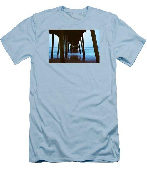 Fishing Pier Men's T-Shirt (Slim Fit) by Scott Meyer