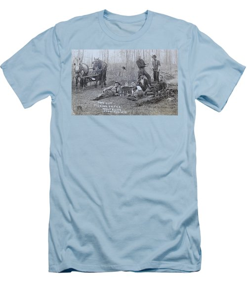 Men's T-Shirt (Slim Fit) featuring the photograph Fishing With The Boys by Tammy Schneider