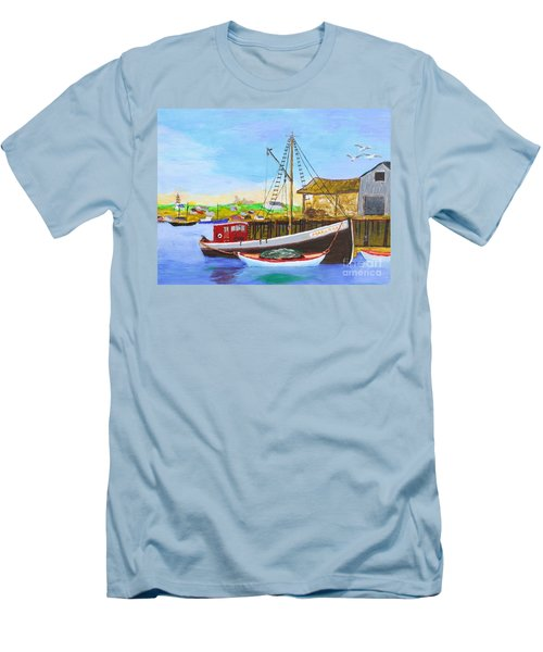 Fitting Out For Seining Men's T-Shirt (Slim Fit) by Bill Hubbard