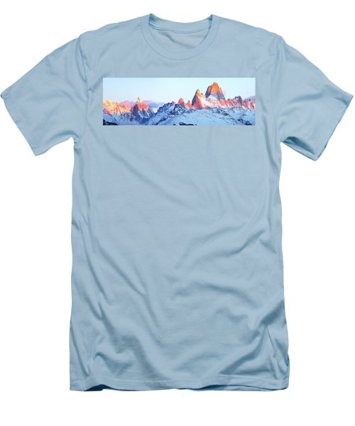 Men's T-Shirt (Slim Fit) featuring the photograph Fitz Roy Peak by Phyllis Peterson