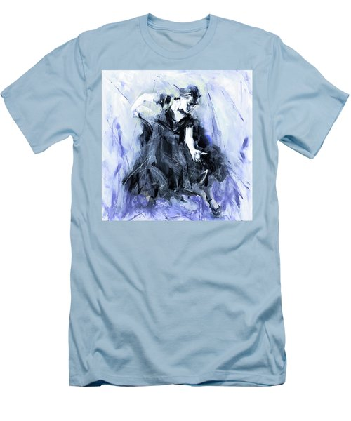 Men's T-Shirt (Slim Fit) featuring the painting Flamenco Dancer Art 45h by Gull G