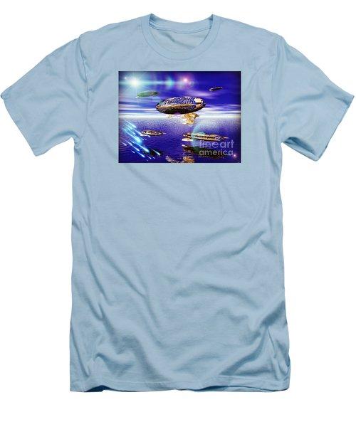 Men's T-Shirt (Slim Fit) featuring the digital art Fleet Tropical by Jacqueline Lloyd