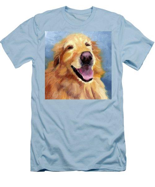 Fletcher Laughing Men's T-Shirt (Slim Fit) by Alice Leggett