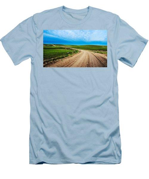 Flint Hills Spring Gravel Men's T-Shirt (Athletic Fit)