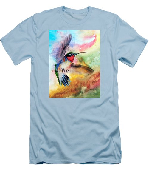 Da198 Flit The Hummingbird By Daniel Adams Men's T-Shirt (Athletic Fit)