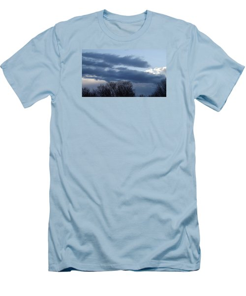 Men's T-Shirt (Slim Fit) featuring the photograph Floating Blue Clouds by Don Koester