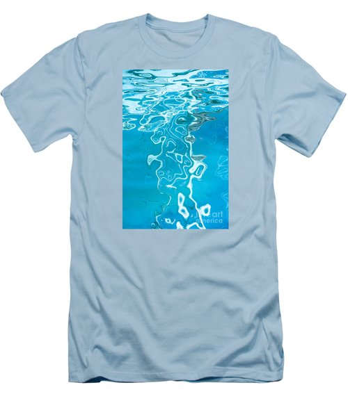 Floating On Blue 38 Men's T-Shirt (Slim Fit) by Wendy Wilton