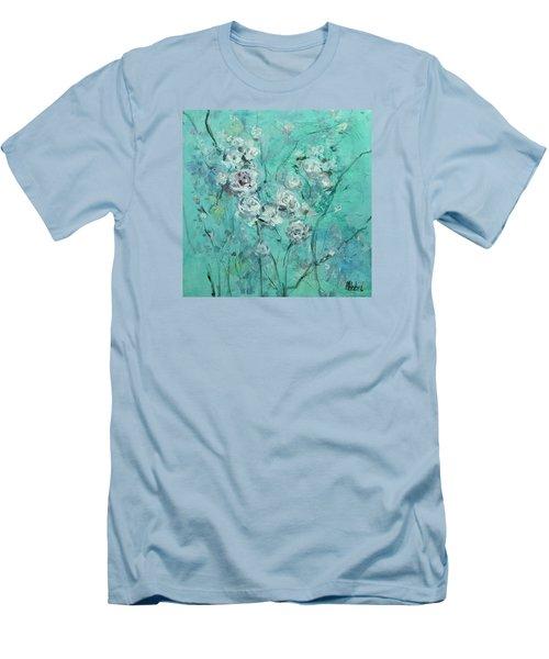 Floating Roses Painting Men's T-Shirt (Slim Fit) by Chris Hobel
