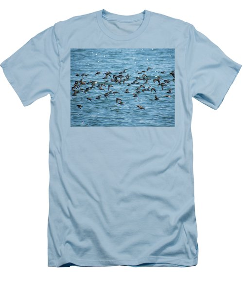 Flock Of Birds Men's T-Shirt (Slim Fit) by Trace Kittrell