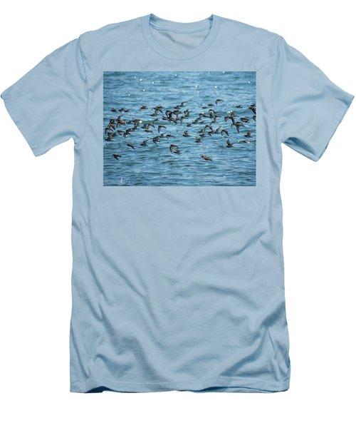 Flock Of Birds Men's T-Shirt (Athletic Fit)