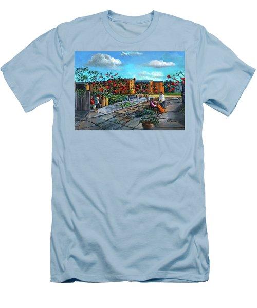 Flor De Noche Buena Men's T-Shirt (Athletic Fit)