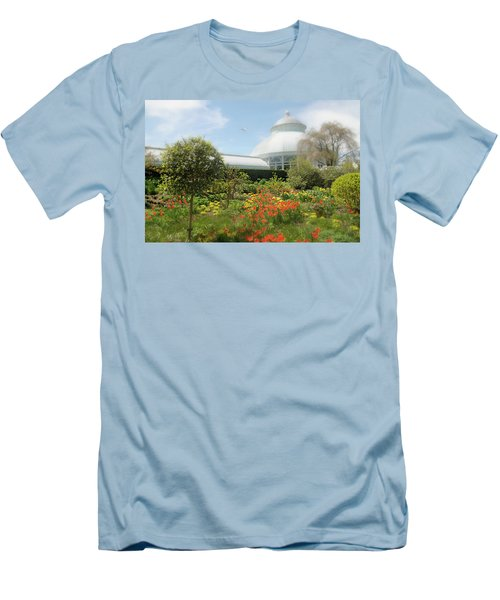 Men's T-Shirt (Slim Fit) featuring the photograph Floral Notes by Diana Angstadt